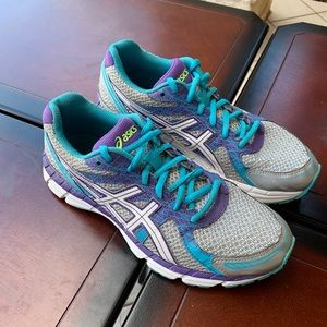 Asics Gel Excite 2 Gray Purple Running Shoes